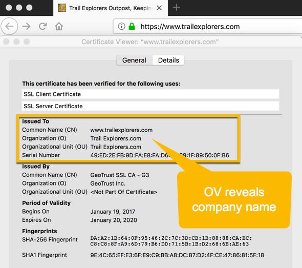 Валидация SSL с проверкой компании
