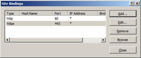 SSL in Microsoft IIS 7